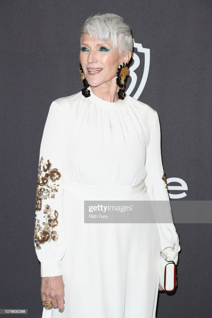 Maye Musk attends the InStyle And Warner Bros  Golden Globes