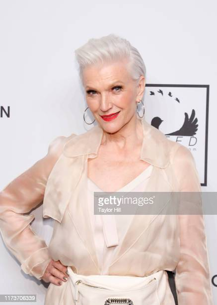 Maye Musk attends the Mosaic Federation Gala Against Human Slavery on September 10, 2019 at Cipriani 42nd Street in New York City.