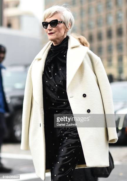Maye Musk is seen outside the Jason Wu show during New York Fashion Week Women's A/W 2018 on February 9 2018 in New York City