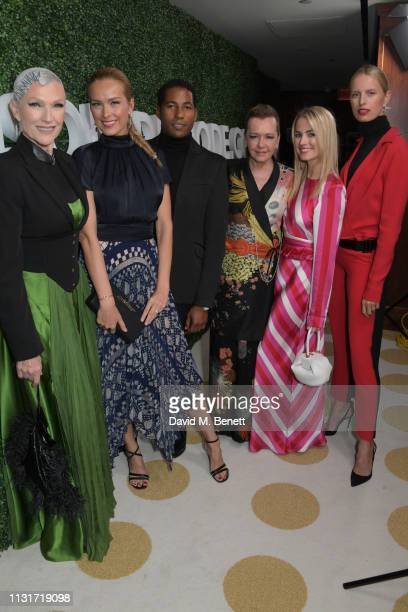 Maye Musk Petra Nemcova Hassan Pierre Caroline Scheufele Amanda Hearst and Karolina Kurkova attend the MAISONDEMODECOM Sustainable Style Gala at The...