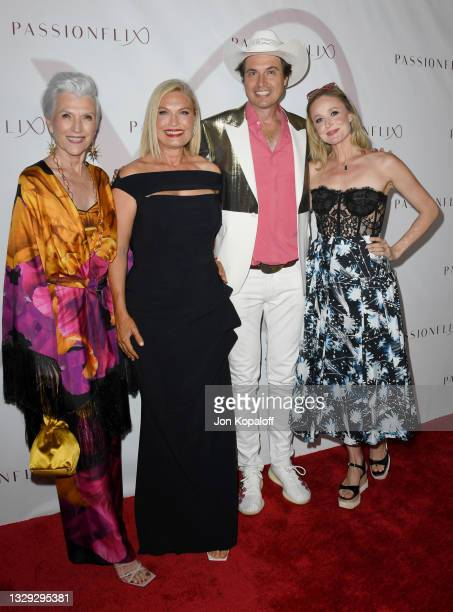 "Maye Musk, Tosca Musk, Kimbal Musk and Christiana Musk arrive at Passionflix's Series ""Driven"" Season 2 Premiere at AMC Santa Monica 7 on July 17,..."