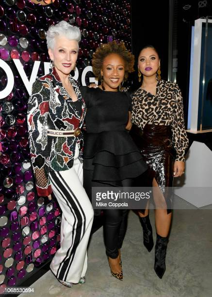 Maye Musk Ukonwa Ojo and Ayesha Curry attend as COVERGIRL Opens The Doors To Their First Flagship Store An Experiential Makeup Playground on December...