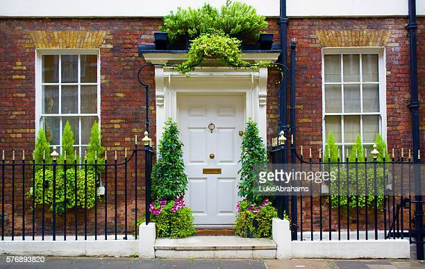 mayfair london door - door knocker stock photos and pictures