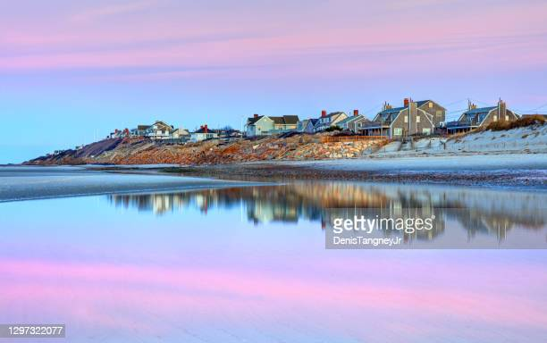mayflower beach on cape cod - massachusetts stock pictures, royalty-free photos & images