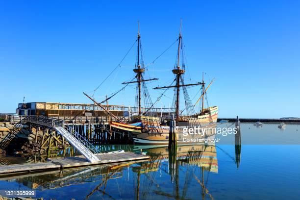 mayflower ii in plymouth - sloppy joe, jr stockfoto's en -beelden