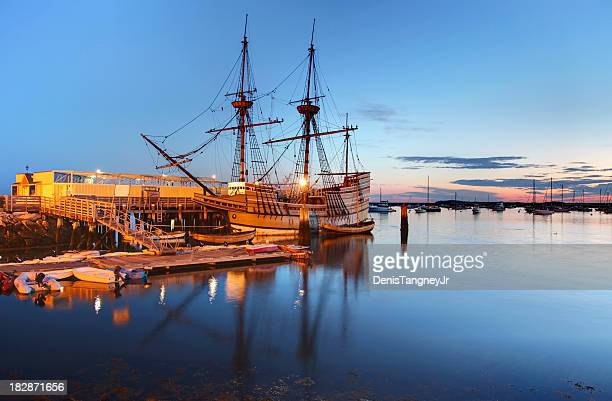mayflower ii - plymouth massachusetts stock photos and pictures