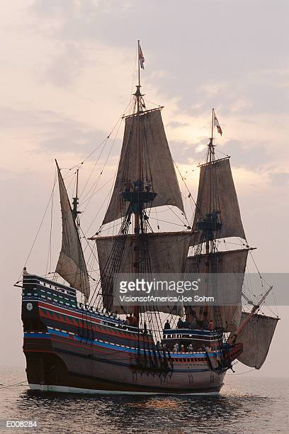 mayflower replica - the mayflower stock photos and pictures