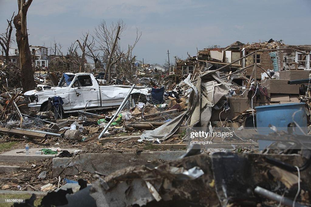Mayhem after a Tornado : Stock Photo