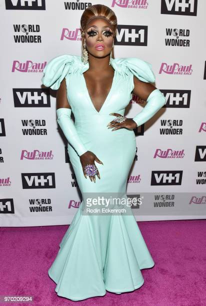 Mayhem Miller attends VH1's RuPaul's Drag Race Season 10 Finale at The Theatre at Ace Hotel on June 8 2018 in Los Angeles California