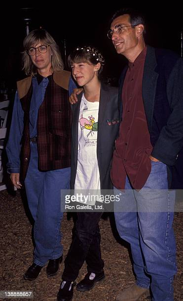 Mayim Bialik and parents Barry Bialik and Beverly Bialik attend Evening Under the Harvest Moon Benefit for Tree People on September 28 1991 at...