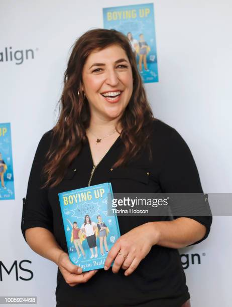 Mayim Bialik attends the Mamarazzi event hosted by THE MOMS celebrating her new book 'Boying Up How To Be Bold Brave And Brilliant' on July 26 2018...