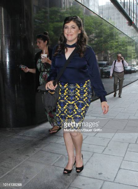 Mayim Bialik is seen on August 09 2018 in New York City