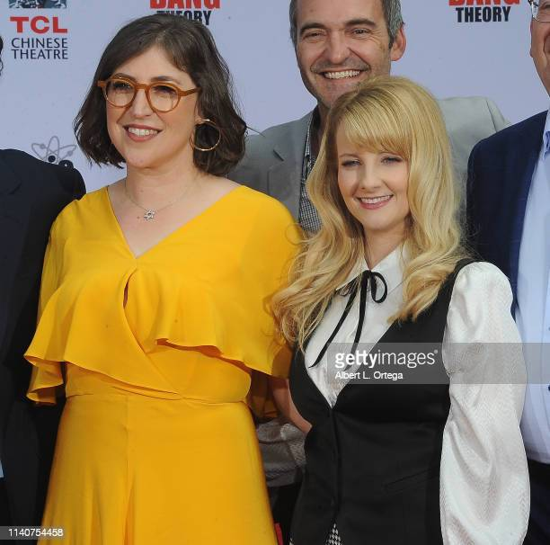 Mayim Bialik Melissa Rauch and The Cast Of The Big Bang Theory Places Their Handprints In The Cement At The TCL Chinese Theatre IMAX Forecourt held...