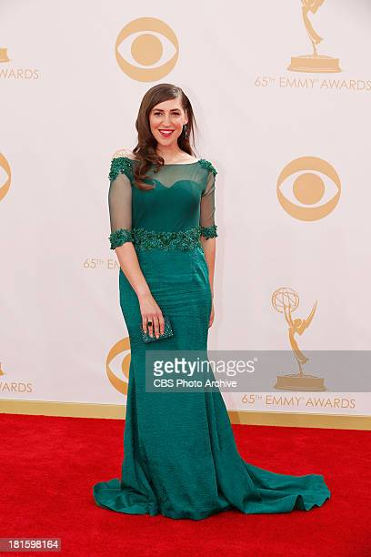 Mayim Bialik on the Red Carpet for the 65th Primetime Emmy Awards which will be broadcast live across the country 8001100 PM ET/ 500800 PM PT from...