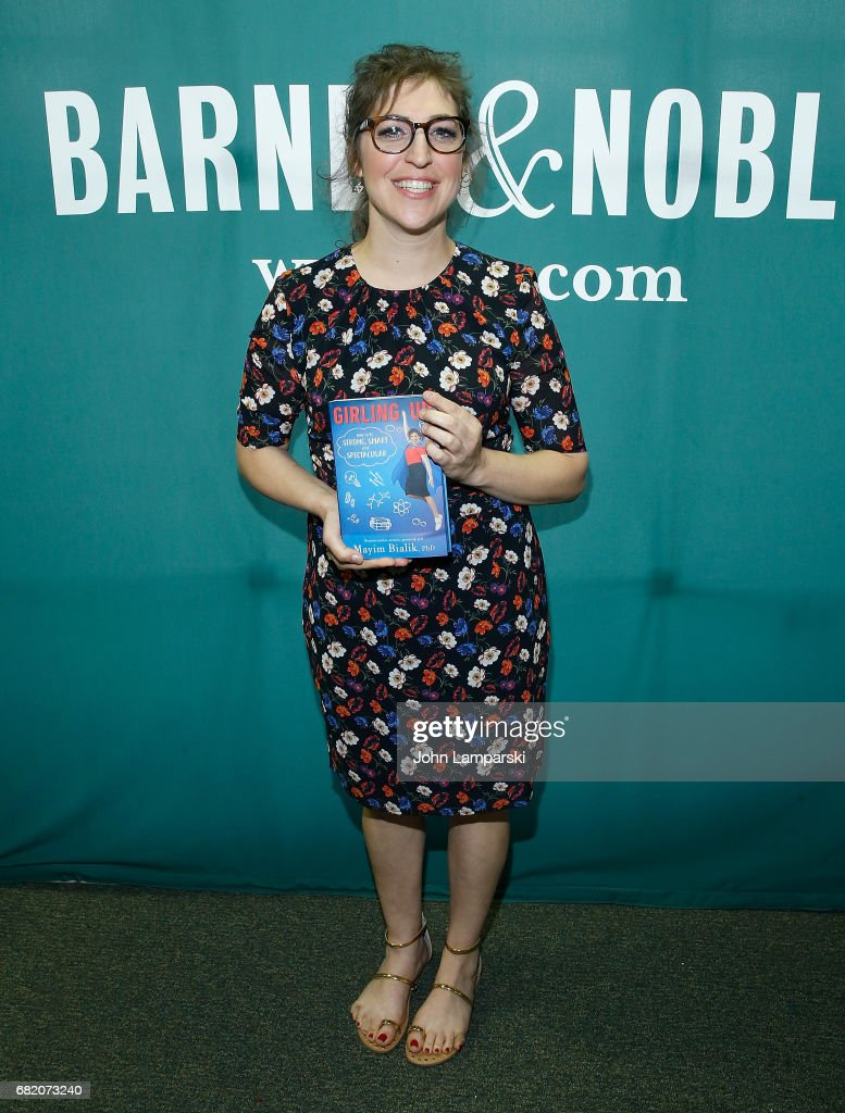 "Mayim Bialik Signs Copies Of Her New Book ""Girling Up: How To Be Strong, Smart, And Spectacular"""