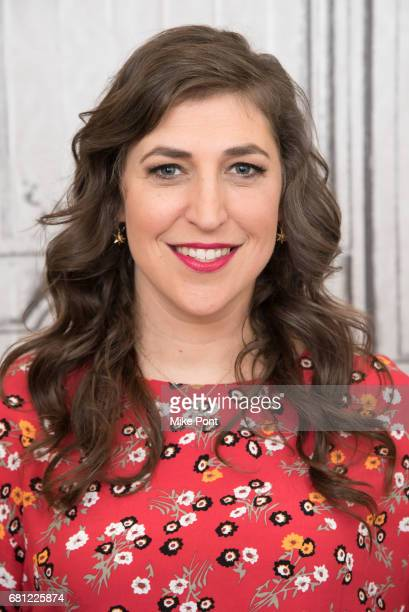 Mayim Bialik visits Build Studio to discuss her new book Girling Up How to Be Strong Smart and Spectacular at Build Studio on May 9 2017 in New York...