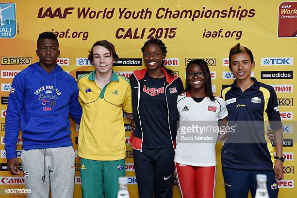 Maykel Demetrio Masso of Cuba Jack Hale of Australia Candace Hill of the USA Khalifa St Fort of Trinidad and Tobago and Santiago Hernandez of...