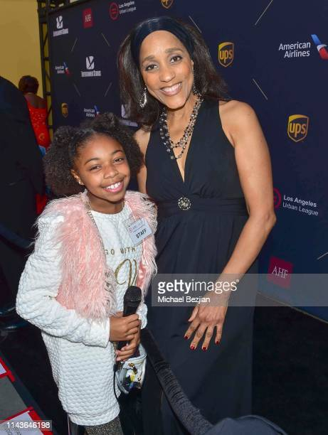 Maylah Chanel and Karla Gordy Bristol attend Byron Allen Honored by Los Angeles Urban League on April 18 2019 in Hollywood California