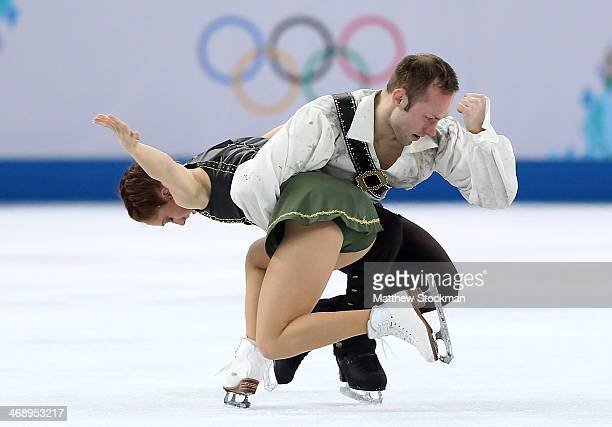 Maylin Wende and Daniel Wende of Germany compete in the Figure Skating Pairs Free Skating during day five of the 2014 Sochi Olympics at Iceberg...