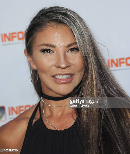 Mayling NG attends InfoListcom's PreComicCon Bash held at Wisdome Immersive Art Park on July 11 2019 in Los Angeles California