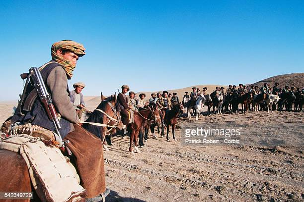 Maymana cavalry in Herat Province allied to General Dostum fight against the Taliban The city of Herat was captured by the Taliban in September 1995