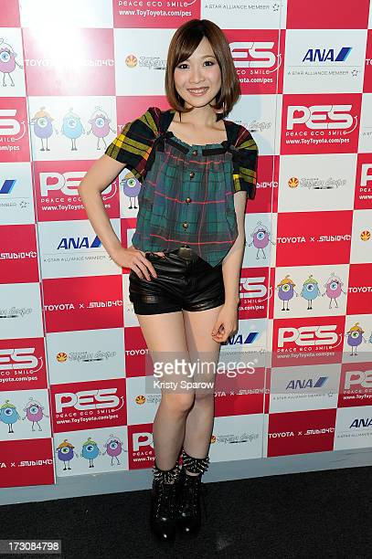 May'n meets with the press during the Japan Expo at Paris-nord Villepinte Exhibition Center on July 6, 2013 in Paris, France.