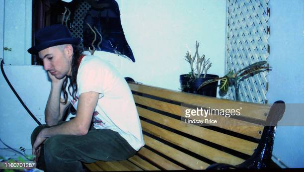 Maynard James Keenan vocalist in Tool relaxing at home at the Jello Loft in Hollywood on November 24 1991 in Los Angeles California