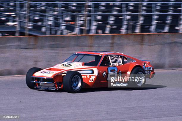 Maynard Troyer wheels his highlymodified Ford Mustang around the Daytona International Speedway during the Permatex 200 NASCAR Modified race Troyer...