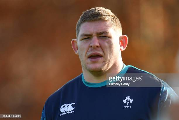 maynooth Ireland 13 November 2018 Tadhg Furlong during Ireland rugby squad training at Carton House in Maynooth Co Kildare