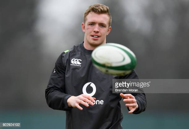 Maynooth Ireland 22 February 2018 Dan Leavy during Ireland rugby squad training at Carton House in Maynooth Co Kildare