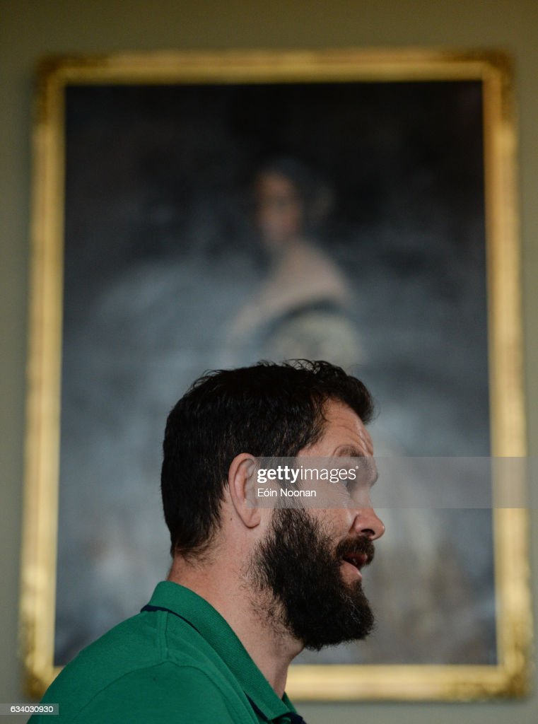 Maynooth , Ireland - 6 February 2017; Ireland defence coach Andy Farrell during a press conference at Carton House in Maynooth, Co. Kildare.