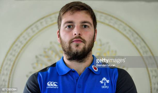 Maynooth Ireland 7 November 2017 Iain Henderson poses for a portrait after an Ireland rugby press conference at Carton House in Maynooth Kildare