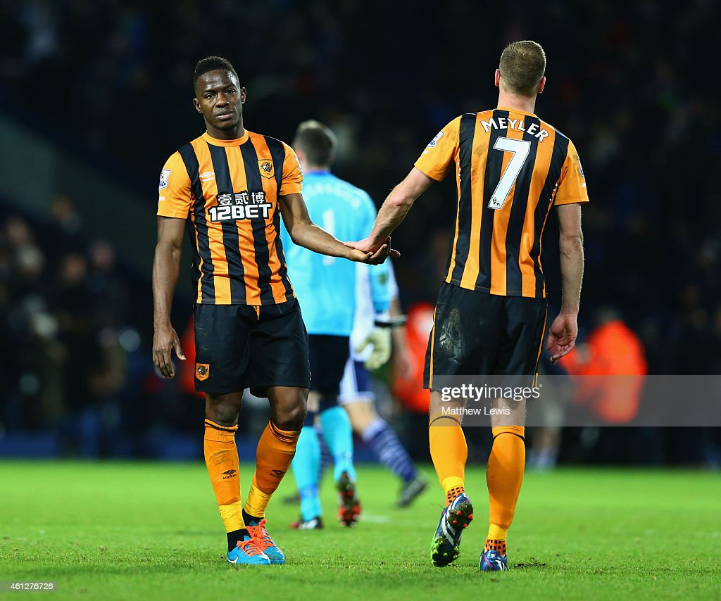 Maynor Figueroa and David Meyler of Hull City looks dejected in defeat after the Barclays Premier League match between West Bromwich Albion and Hull City at The Hawthorns on January 10, 2015 in West Bromwich, England.