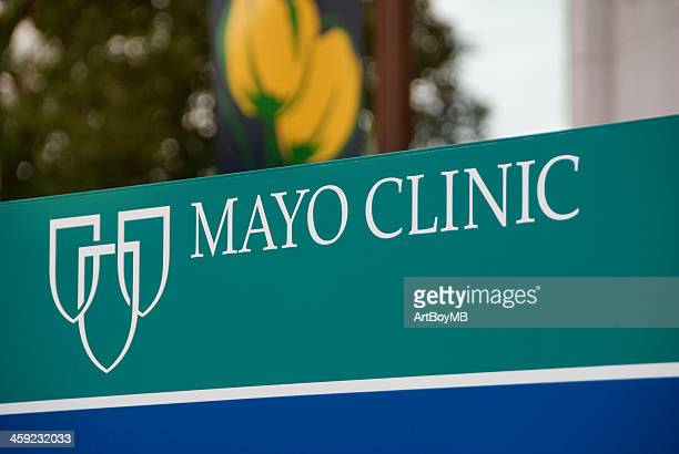 mayo clinic sign - mayo clinic stock photos and pictures