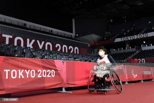 Mayo Hagino of Team Japan during the second quarter during the Wheelchair Basketball Women's preliminary round group A match between team Japan and...