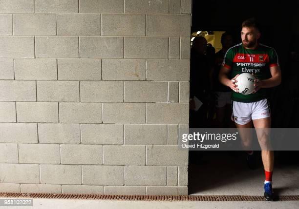 Mayo Ireland 13 May 2018 Aidan O'Shea of Mayo runs out prior to the Connacht GAA Football Senior Championship QuarterFinal match between Mayo and...