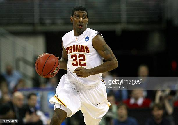 J Mayo of the USC Trojans against the Kansas State Wildcats during the Midwest Region first round of the 2008 NCAA Men's Basketball Tournament on...