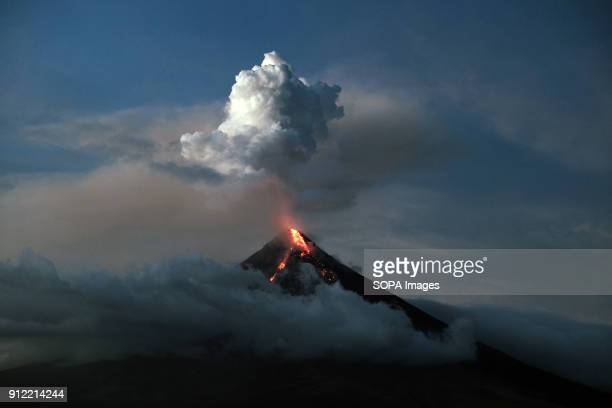 Mayon volcano seen spewing ash and lava as it erupts The Mayon volcano eruption has made tens of thousands of local residents having to leave their...