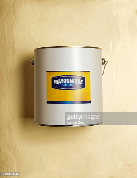 Mayonnaise in paint tub