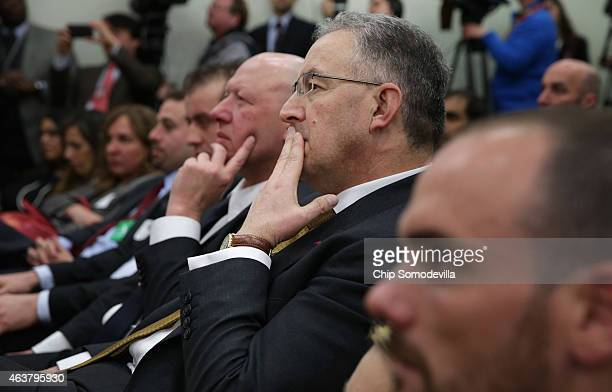 Mayor Ahmed Aboutaleb of Rotterdam Netherlands and Mayor Hans Bonte of Vilvoorde Belgium the White House Summit on Countering Violent Extremism in...