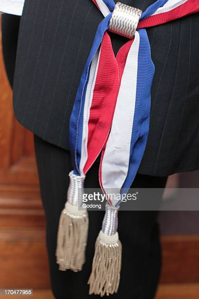 Mayor and his scarf Paris France