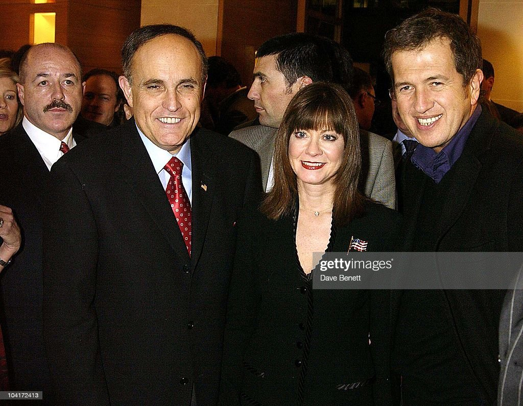 Mayor And Partner And Mario Testino, Burberry Plays Host To Rudolph Giuliani & His Party, Burberry, Bond Street, London.