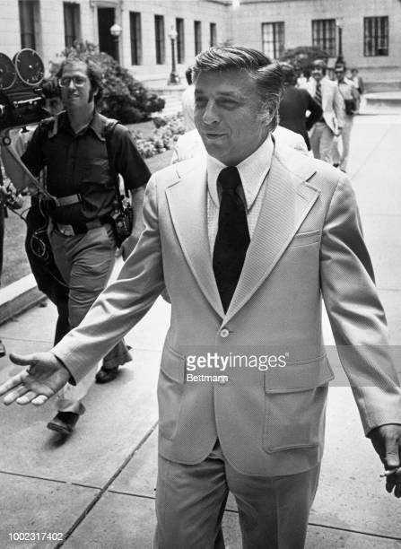 Mayor Angelo Errichetti of Camden NJ leaves the State House Annex after appearing before a state grand jury Errichetti is under investigation for...