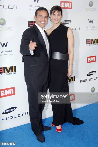 Mayor Antonio Villaraigosa and Lu Parker attend EMI POSTGRAMMY PARTY AT THE NEW W HOLLYWOOD HOTEL at The W Hollywood on January 31 2010 in Hollywood...