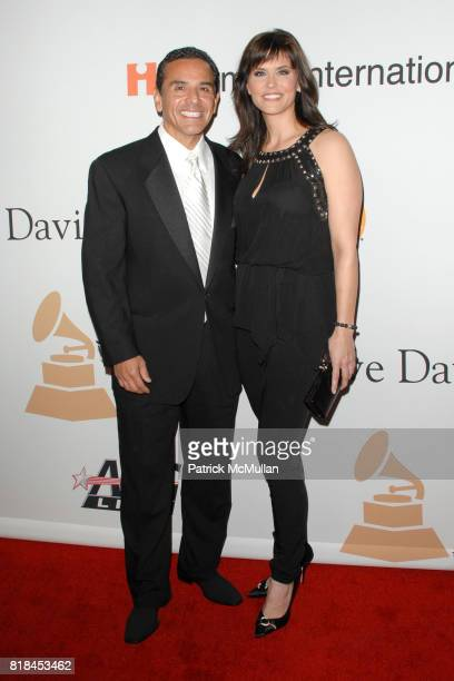 Mayor Antonio Villaraigosa and Lu Parker attend PreGRAMMY Gala Salute to Industry Icons with Clive Davis at Beverly Hilton Hotel on January 30 2010...