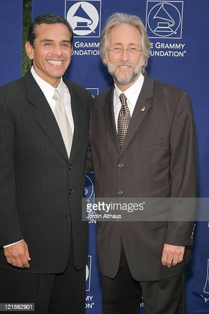 Mayor Antonio Villaraigosa and Neil Portnow during Starry Night Benefit Honoring Los Angeles Mayor Antonio Villaraigosa - Arrivals at Villa...