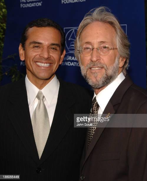 Mayor Antonio Villaraigosa and Neil Portnow of NARAS