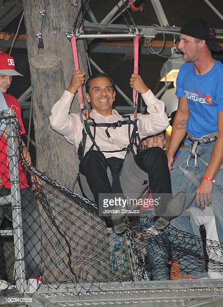 Mayor Antonio Villaraigosa attends Rob Dyrdek Foundation SK8 4 Life Benefit Presented by Panasonic & Carl's Jr at Fantasy Factory on May 22, 2010 in...