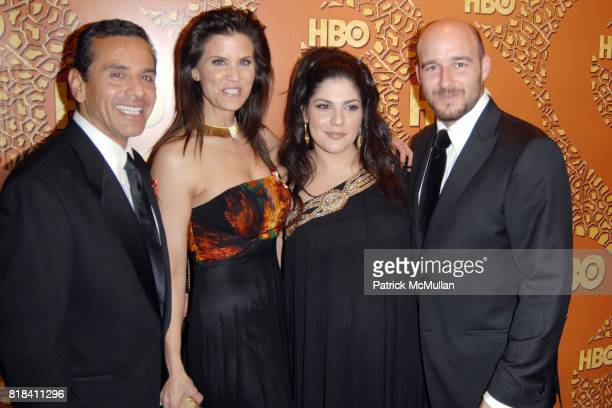 Mayor Antonio Villaraigosa Lu Parker Laura Dubiecki and Daniel Dubiecki attend HBO Golden Globes After Party at Circa 55 Restaurant on January 17...