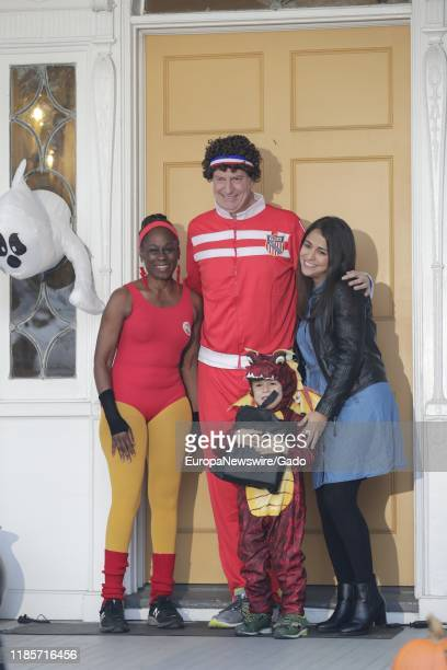 Mayor Bill de Blasio and First Lady Chirlane McCray host a Halloween Party for children at Gracie Mansion in New York City October 25 2019